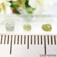 ザンビア産 ダイヤモンドの原石 3点セット No.5の画像