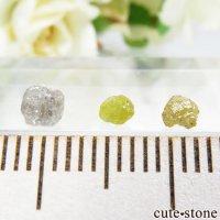 ザンビア産 ダイヤモンドの原石 3点セット No.7の画像