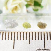 ザンビア産 ダイヤモンドの原石 3点セット No.8の画像