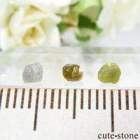 ザンビア産 ダイヤモンドの原石 3点セット No.10の画像