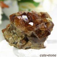 アメリカ カリフォルニア産 グロッシュラーガーネットの母岩付き結晶(原石)4.4gの画像