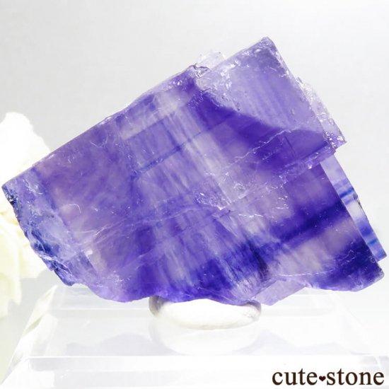ドイツ産 パープルハライトの結晶(原石) 29.8gの写真1 cute stone