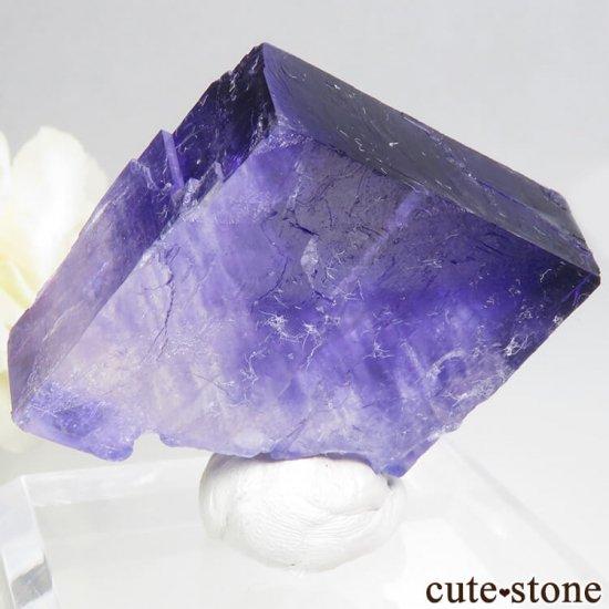 ドイツ産 パープルハライトの結晶(原石) 26gの写真1 cute stone