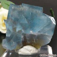 フランス La Barre Mine産 ブルー×イエローフローライトの結晶(原石) 41.4gの画像