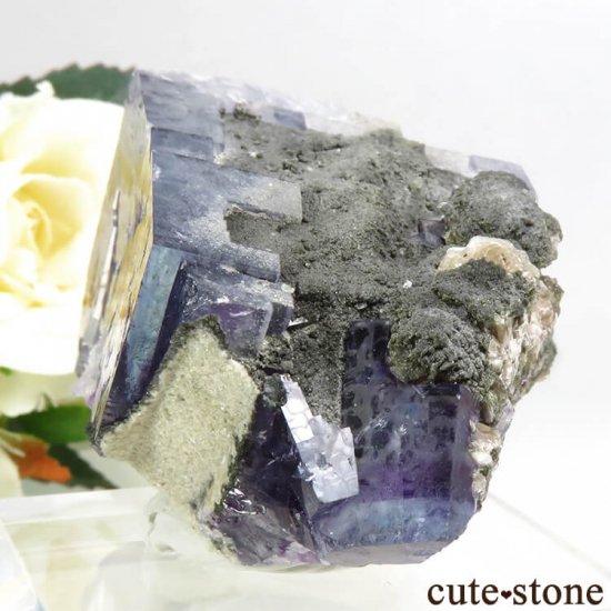 ヤオガンシャン産 ブルーフローライトの結晶(原石) 101gの写真4 cute stone