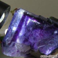 ヤオガンシャン産 ブルーフローライトの結晶(原石) 101gの画像