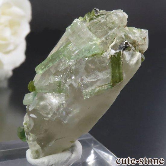 アフガニスタン Dara-i-Pech pegmatite field産 グリーントルマリン&クォーツ 10.4gの写真1 cute stone