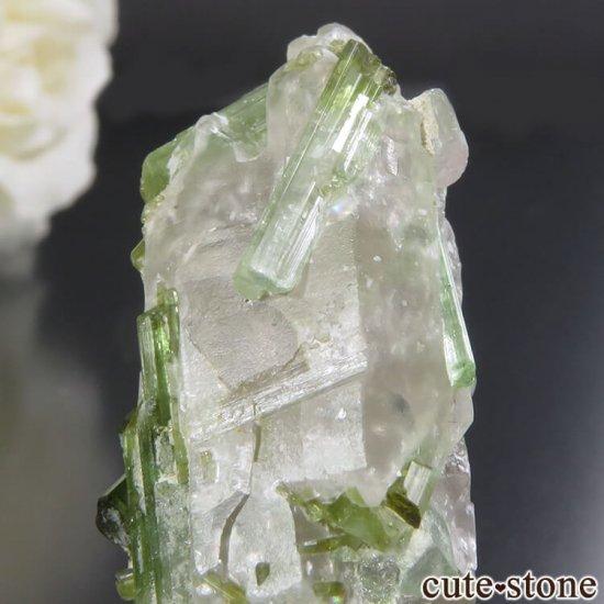 アフガニスタン Dara-i-Pech pegmatite field産 グリーントルマリン&クォーツ 10.4gの写真2 cute stone