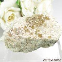 パキスタン Mohmand産のグロッシュラーガーネットの母岩付き原石 65gの画像