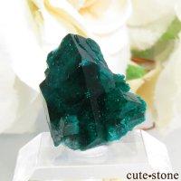 カザフスタン産のダイオプテーズの母岩付き結晶(原石)1.4gの画像