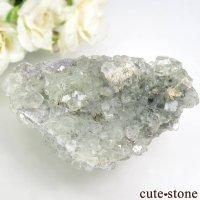 中国 湖南省 チン州産 グリーンフローライトの母岩付き結晶 171gの画像