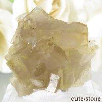 フランス Fontsante Mine産 イエローフローライトの結晶(原石)7.7gの画像