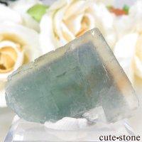 フランス Fontsante Mine産 イエロー×ブルーフローライトの結晶(原石)8.3gの画像