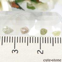 ザンビア産 ダイヤモンドの原石 4点セット No.16の画像