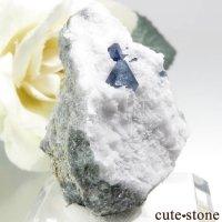 カリフォルニア産 ベニトアイトの母岩付き結晶(原石) 10.2gの画像