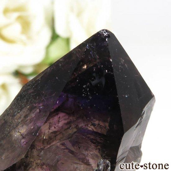 ジンバブエ産 セプタークォーツ(アメジスト、スモーキークォーツ)の結晶(原石) 54.8gの写真3 cute stone