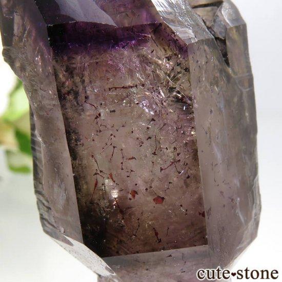 ジンバブエ産 セプタークォーツ(アメジスト、スモーキークォーツ)の結晶(原石) 54.8gの写真4 cute stone