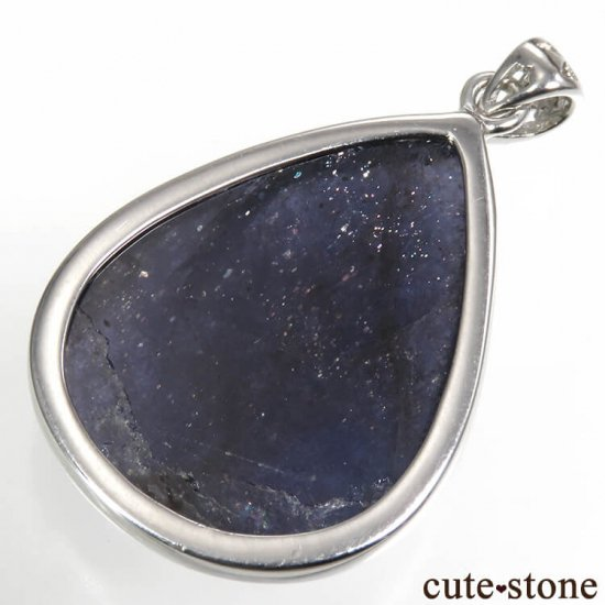 アベンチュリンアイオライトのドロップ型silver925製ペンダントトップ No.1の写真0 cute stone