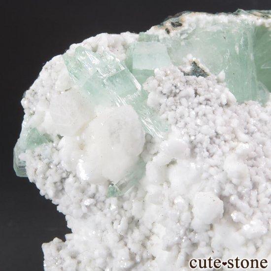 インド プネー産 グリーンアポフィライトの原石 144gの写真1 cute stone
