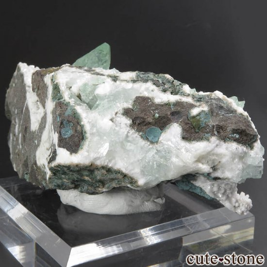 インド プネー産 グリーンアポフィライトの原石 144gの写真4 cute stone