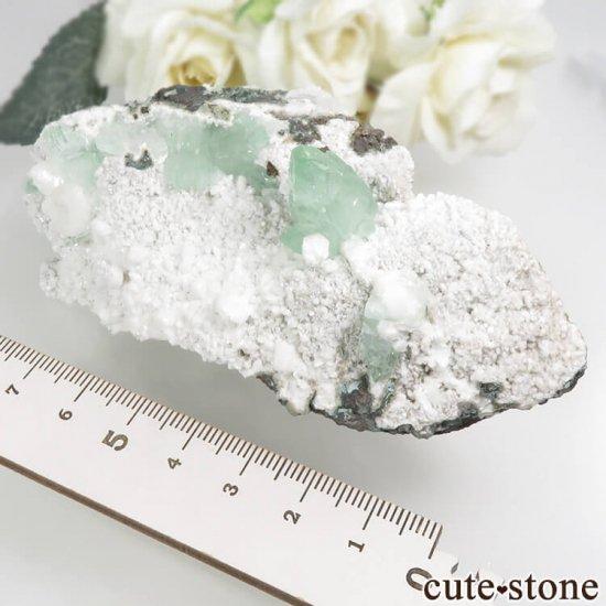 インド プネー産 グリーンアポフィライトの原石 144gの写真6 cute stone