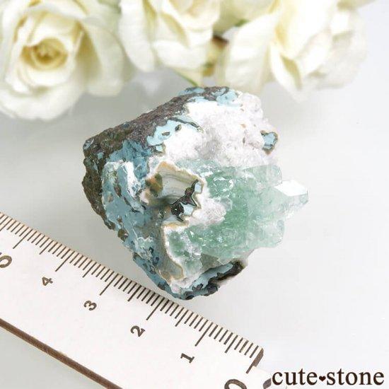 インド プネー産 グリーンアポフィライト&スティルバイトの原石 43.4gの写真4 cute stone