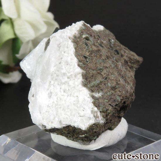 インド プネー産 グリーンアポフィライト&スティルバイトの原石 41.7gの写真3 cute stone