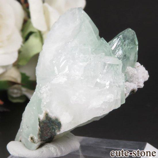 インド プネー産 グリーンアポフィライトの原石 29.6gの写真1 cute stone