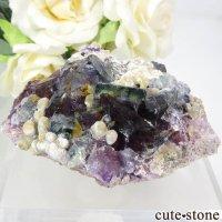 中国 内モンゴル産 パープル×ブルーフローライト&モスコバイトの結晶(原石) 83.2gの画像