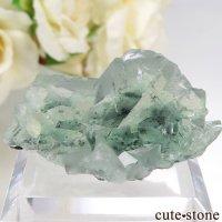 中国 Xianghualing Mine産 グリーンフローライトの結晶 28.7gの画像