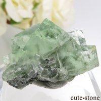 中国 Xianghualing Mine産 グリーンフローライトの結晶 23.2gの画像