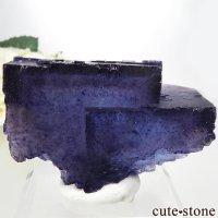 イリノイ州 Denton Mine産ブルーフローライトの原石 202gの画像