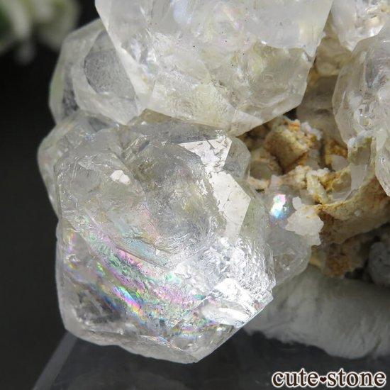 ロシア ダルネゴルスク産 カラーレスフローライトの母岩付き結晶(原石) 188gの写真5 cute stone