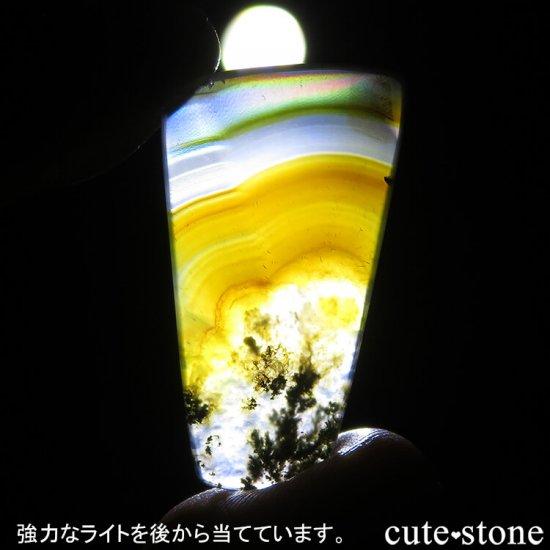 インドネシア産 アイリス&モスアゲートのスライス 4.1gの写真1 cute stone