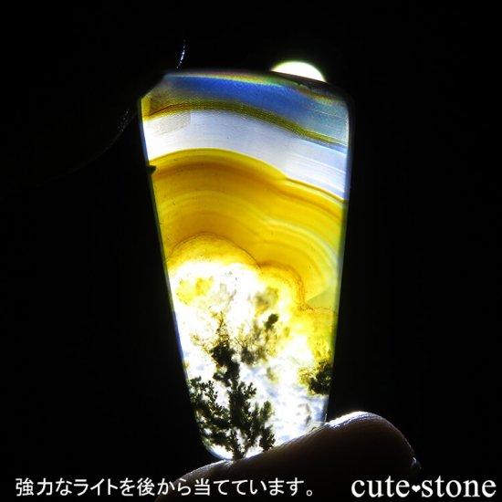 インドネシア産 アイリス&モスアゲートのスライス 4.1gの写真2 cute stone