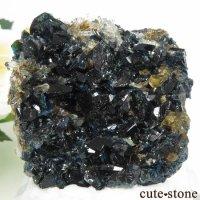 カナダ ユーコン ラピッドクリーク産 ラズライト(天藍石)&クォーツ&シデライトの母岩付き結晶(原石) 70.8gの画像