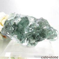 中国 Xianghualing Mine産 グリーンフローライトの結晶 91.9gの画像