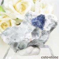 カリフォルニア産 ベニトアイトの母岩付き結晶(原石) 8.1gの画像