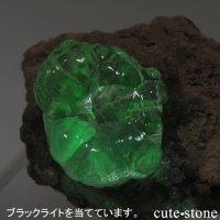 メキシコ Villa Garcia Municipality産 ハイアライト(オパール)の母岩付き結晶(原石)14.4gの画像