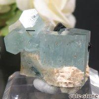 ナミビア エロンゴ産 アクアマリン&ブラックトルマリンの結晶(原石)11.9gの画像