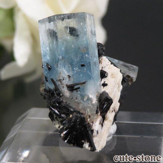 ナミビア エロンゴ産 アクアマリン&ブラックトルマリンの結晶(原石)5.5gの写真0 cute stone