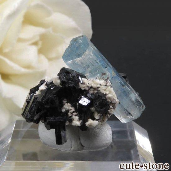 ナミビア エロンゴ産 アクアマリン&ブラックトルマリンの結晶(原石)8.1gの写真0 cute stone