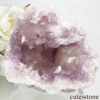 アルゼンチン産 ピンクアメジストの原石(クラスター)52.5gの画像