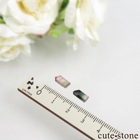 マダガスカル産 バイカラートルマリンの結晶 セット No.7の写真1 cute stone