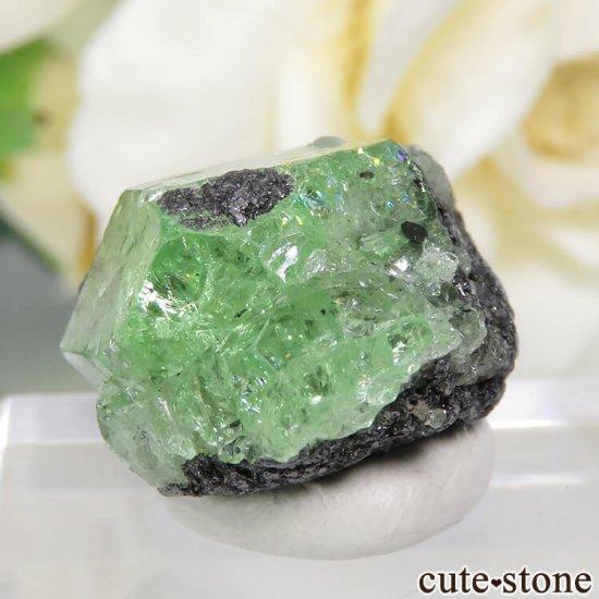 タンザニア産 ツァボライトの結晶(原石) 23.4ctの写真2 cute stone