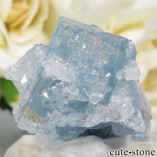 フランス En Bournegade産 フローライト&クォーツの原石  9.2gの写真0 cute stone