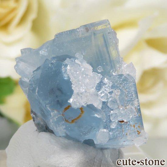 フランス En Bournegade産 フローライト&クォーツの原石  9.2gの写真1 cute stone