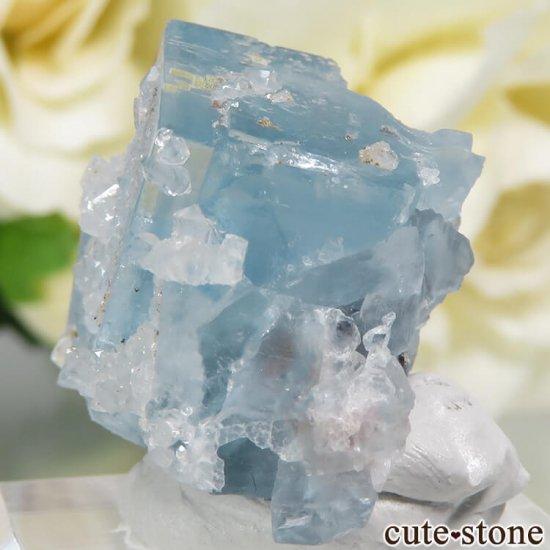 フランス En Bournegade産 フローライト&クォーツの原石  9.2gの写真3 cute stone
