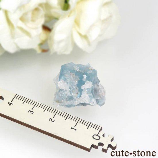 フランス En Bournegade産 フローライト&クォーツの原石  9.2gの写真4 cute stone