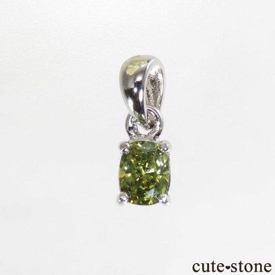 グリーンガーネットのsilver925製 ペンダントトップの写真1 cute stone